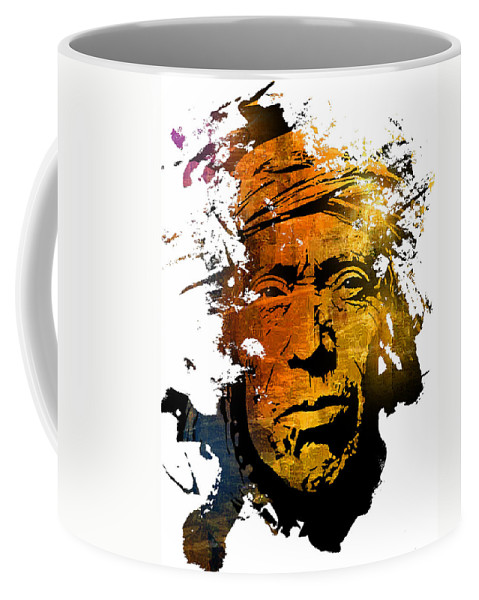 Native American Coffee Mug featuring the painting Sands Of Time by Paul Sachtleben