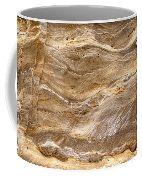 Starved Coffee Mug featuring the photograph Sandstone Formation Number 3 At Starved Rock State by Steve Gadomski