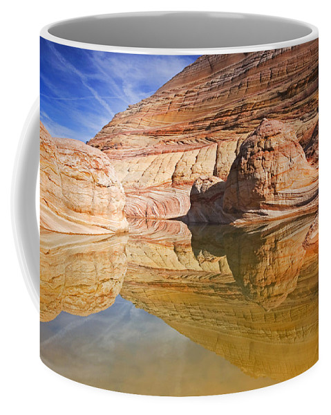 Pool Coffee Mug featuring the photograph Sandstone Illusions by Mike Dawson
