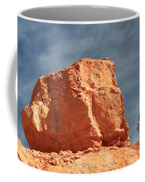 Zion National Park Coffee Mug featuring the photograph Sandy Rock In Morning Light by Paul Cannon