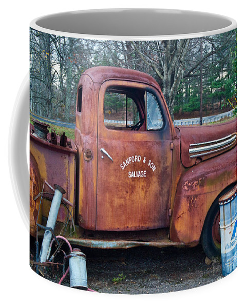 Coffee Mug featuring the photograph Sanford And Son Salvage 1 by Douglas Barnett
