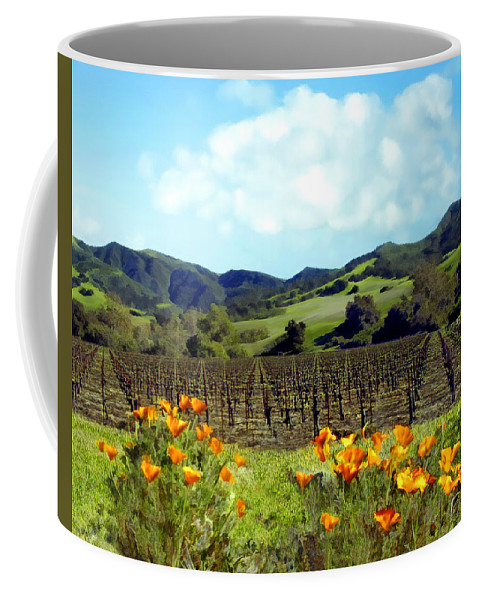Vineyards Coffee Mug featuring the photograph Sanford Ranch Vineyards by Kurt Van Wagner