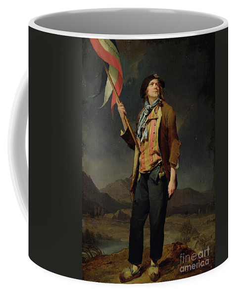Flag Of The French Republic; Festival Of Liberty De La Savoie Coffee Mug featuring the painting Sans Culotte by Louis Leopold Boilly