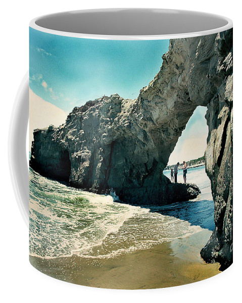 California Scenes Coffee Mug featuring the photograph Santa Cruz Beach Arch by Norman Andrus