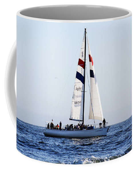 Santa Cruz Coffee Mug featuring the photograph Santa Cruz Sailing by Marilyn Hunt