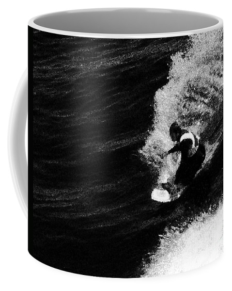California Scenes Coffee Mug featuring the photograph Santa Cruz Surfer Dude by Norman Andrus