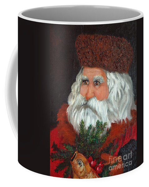 Santa Coffee Mug featuring the painting Santa by Portraits By NC
