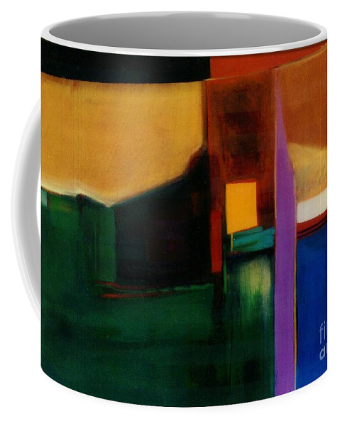 Abstract Coffee Mug featuring the painting Santa Fe 1 Break Loose by Marlene Burns