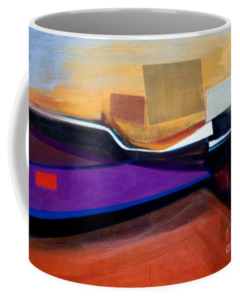 Abstract Coffee Mug featuring the painting Santa Fe 2 Let Loose by Marlene Burns