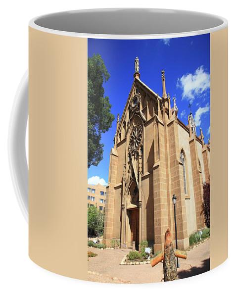Fine Coffee Mug featuring the photograph Santa Fe Church by Frank Romeo