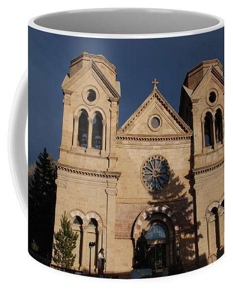 Architecture Coffee Mug featuring the photograph Santa Fe Church by Rob Hans