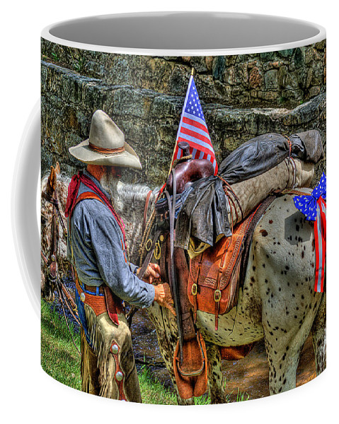 Santa Fe Cowboy Coffee Mug featuring the photograph Santa Fe Cowboy by David Patterson