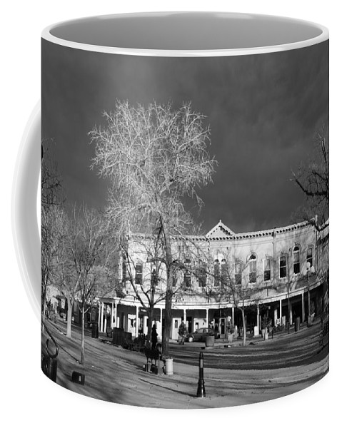 Santa Fe Coffee Mug featuring the photograph Santa Fe Town Square by Rob Hans