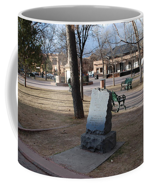 Parks Coffee Mug featuring the photograph Santa Fe Trail Marker by Rob Hans