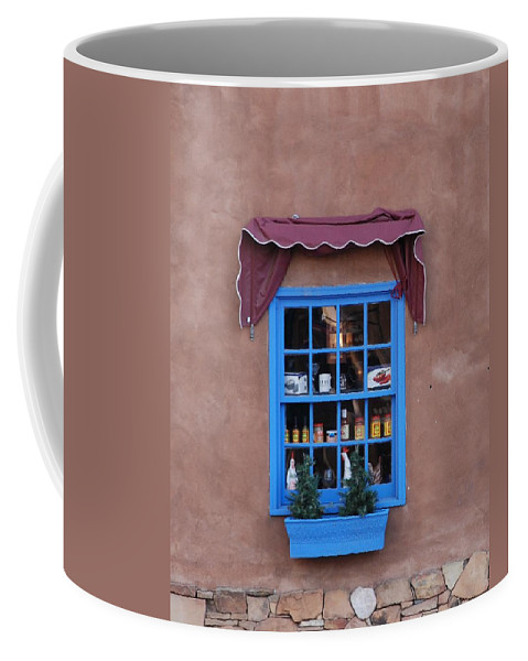 Architecture Coffee Mug featuring the photograph Santa Fe Window by Rob Hans