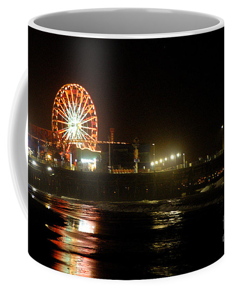 Clay Coffee Mug featuring the photograph Santa Monica Pier by Clayton Bruster