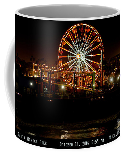 Clay Coffee Mug featuring the photograph Santa Monica Pier October 18 2007 by Clayton Bruster