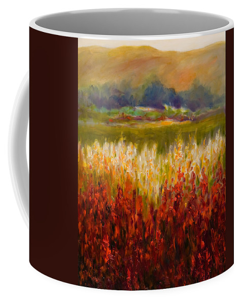 Landscape Coffee Mug featuring the painting Santa Rosa Valley by Shannon Grissom