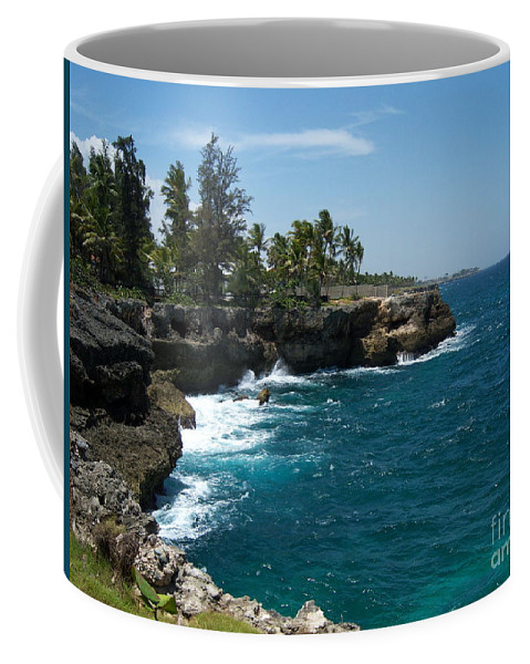 Santo Domingo Coffee Mug featuring the photograph Santo Domingo Coastal View. by Heather Kirk