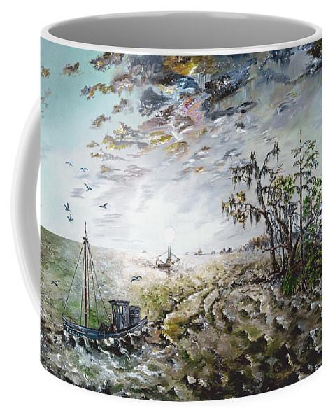 Lighthouse Coffee Mug featuring the painting Sapelo Island by Richard Barham