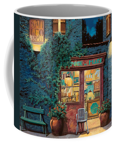 Courtyard Coffee Mug featuring the painting Sapore Di Mare by Guido Borelli