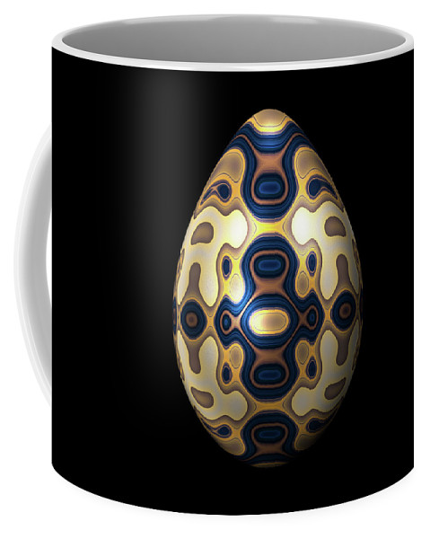 Series Coffee Mug featuring the digital art Sapphire And Gold Imperial Easter Egg by Hakon Soreide