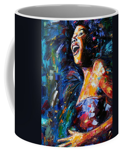 Jazz Coffee Mug featuring the painting Sarah by Debra Hurd