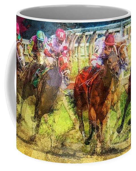 Saratoga Coffee Mug featuring the photograph Saratoga Frenzy by Jeff Watts