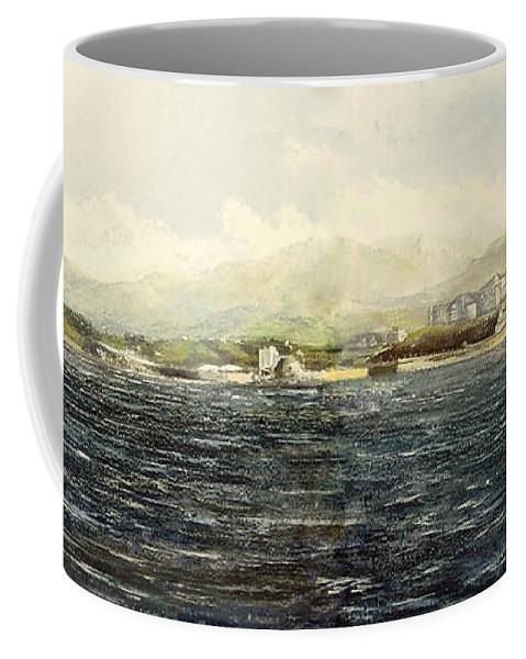 Sardinero Coffee Mug featuring the painting Sardinero y Magdalena by Tomas Castano