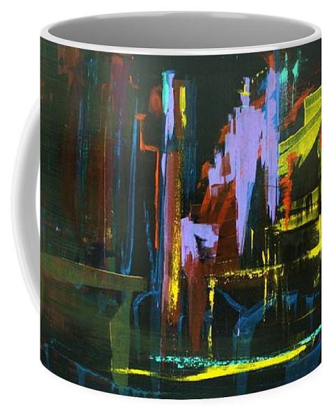 Saturday Night Coffee Mug featuring the painting Saturday Night by Jack Diamond