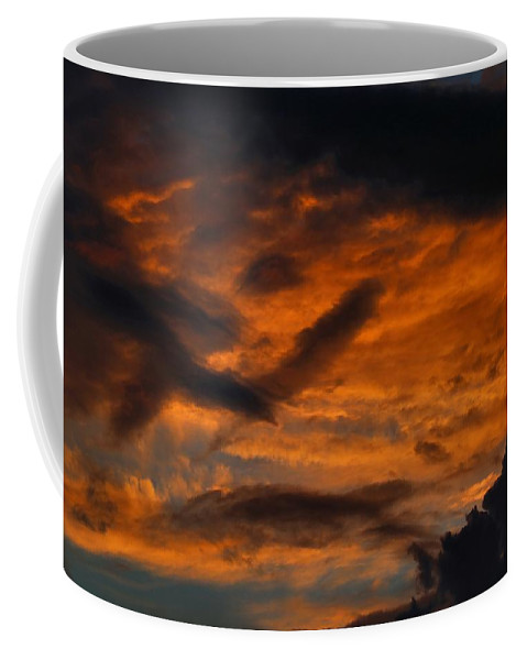 Sunset Coffee Mug featuring the photograph Saturday Sunset by Kathryn Meyer