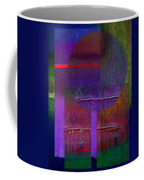 Landscape Coffee Mug featuring the painting Saturn Abstract by Charles Stuart