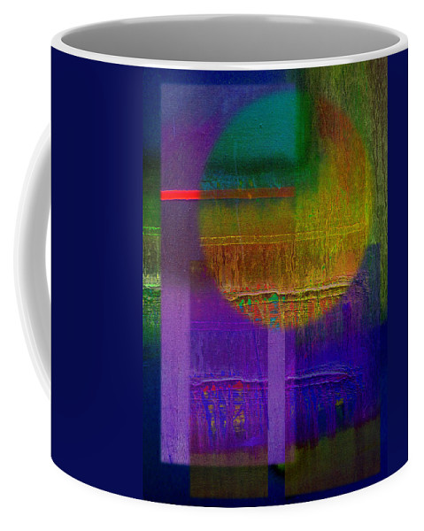 Landscape Coffee Mug featuring the painting Saturn Lavender by Charles Stuart