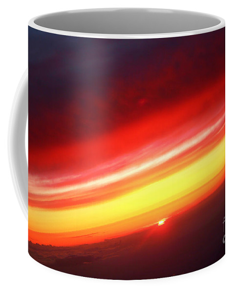 Sunset Coffee Mug featuring the photograph Saturn On Earth Sunset by James BO Insogna