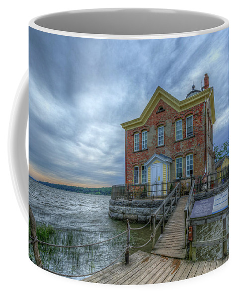 Saugerties Ny Coffee Mug featuring the pyrography Saugerties Ligththouse by Rachel Snydstrup