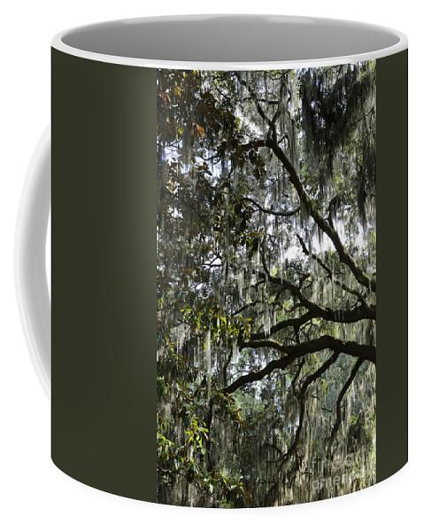 Savannah Coffee Mug featuring the photograph Savannah Green Leaves by Carol Groenen