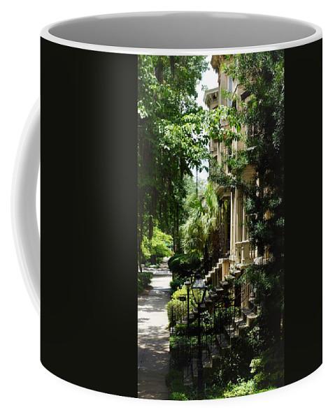 Savannah Coffee Mug featuring the photograph Savannah Historic District by Paul Wilford
