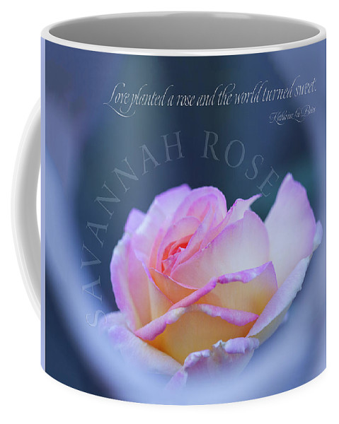 Savannah Rose Coffee Mug featuring the digital art Savannah Rose 3 by Terry Davis