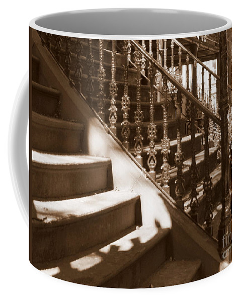 Sepia Coffee Mug featuring the photograph Savannah Sepia - Stairs by Carol Groenen