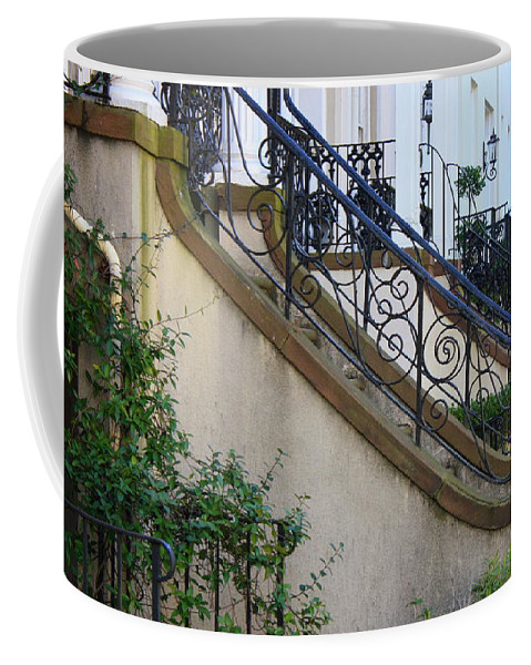 Wrought Iron Coffee Mug featuring the photograph Savannah Stairs by Carol Groenen