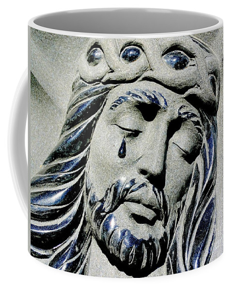 Jesus Christ Coffee Mug featuring the photograph Saviours Sorrow by Ed Weidman