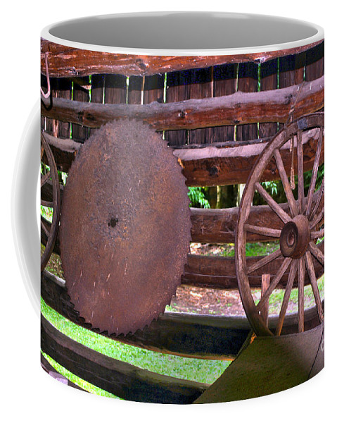 Saw Mill Coffee Mug featuring the photograph Sawyer by Alan Look