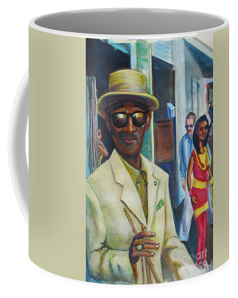 Mixed Media Coffee Mug featuring the mixed media Say Uncle by Beverly Boulet