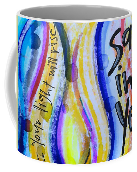 Yes Coffee Mug featuring the painting Saying Yes by Vonda Drees