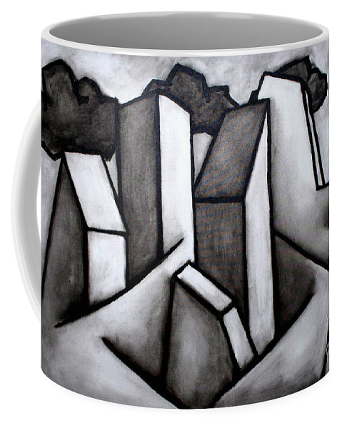 Absract Coffee Mug featuring the painting Scape by Thomas Valentine