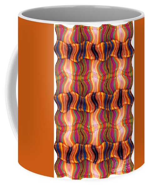 Abstract Coffee Mug featuring the digital art Scarf It Up by Ron Bissett