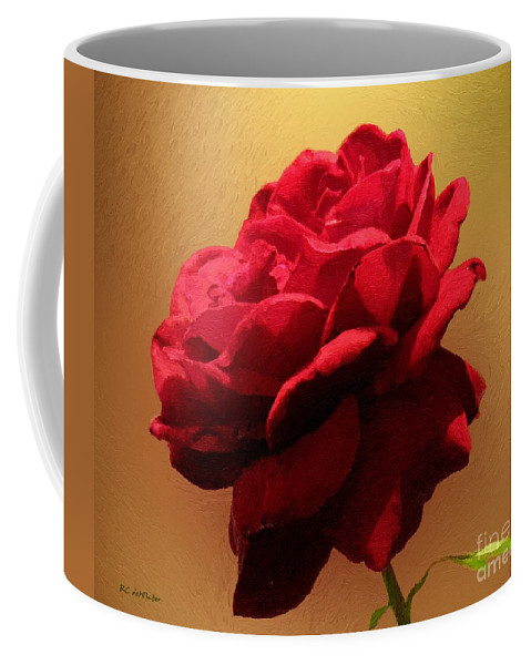 Red Rose Coffee Mug featuring the painting Scarlet Flamenco by RC DeWinter