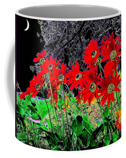 Abstract Coffee Mug featuring the digital art Scarlet Night by Will Borden
