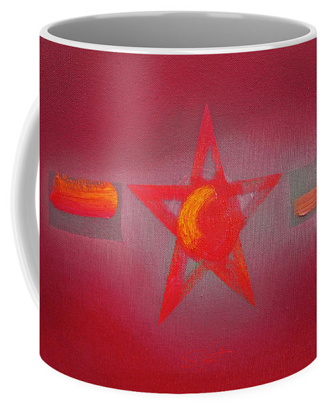 Usaaf Coffee Mug featuring the painting Scarlet Vermillion by Charles Stuart