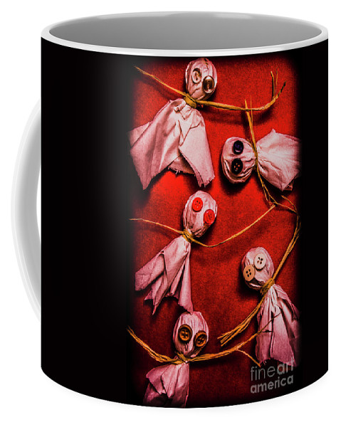 Ghost Coffee Mug featuring the photograph Scary Halloween Lollipop Ghosts by Jorgo Photography - Wall Art Gallery